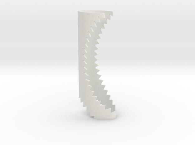 Shark Flicka in White Natural Versatile Plastic