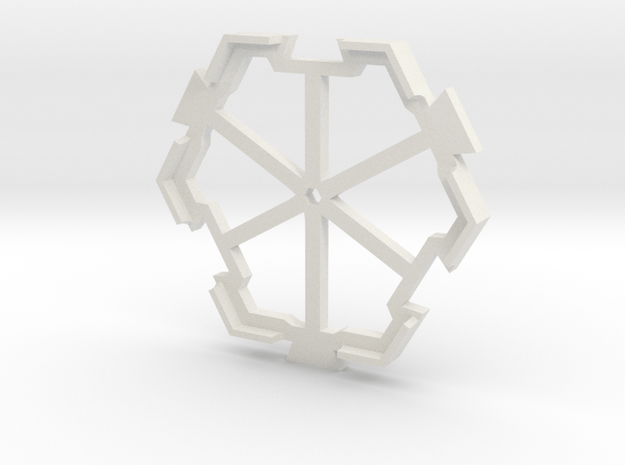 board game hexagon holder in White Natural Versatile Plastic