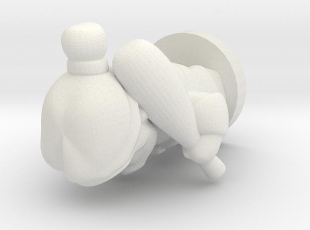 ancient warrior pawn in White Natural Versatile Plastic