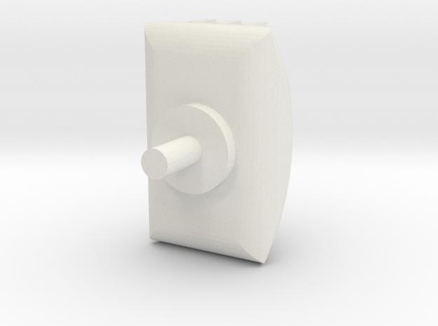 Turret 2 in White Natural Versatile Plastic