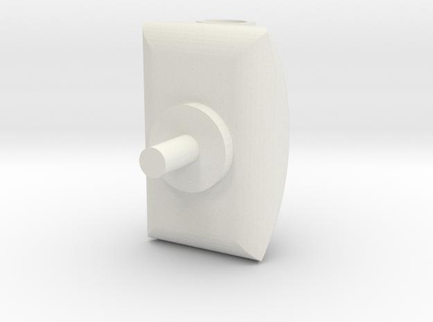 Turret 2 v3 in White Natural Versatile Plastic