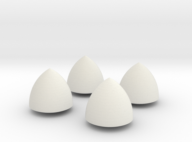 Solid of Constant Width - Set of 4 in White Natural Versatile Plastic