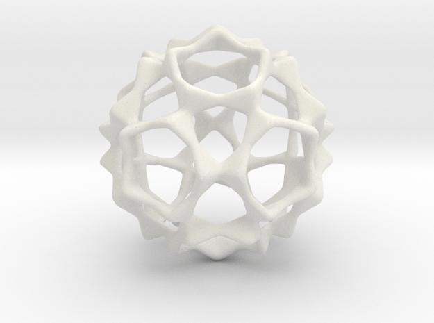 Opening Star in White Natural Versatile Plastic