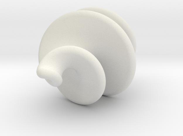 Spiral Ornament Variation in White Natural Versatile Plastic
