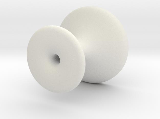 Coffee Tamper in White Natural Versatile Plastic