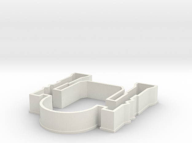 SW Robot Cookie Cutter. Similar to Star Wars Chara in White Natural Versatile Plastic