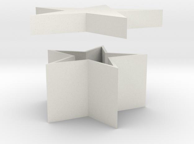 Star Shaped Box in White Natural Versatile Plastic