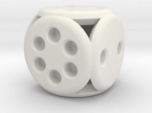 Roundie (2cm) in White Natural Versatile Plastic