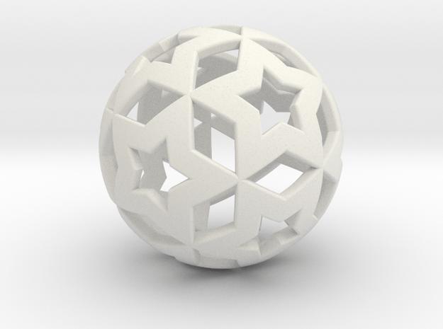 STAR BALL in White Natural Versatile Plastic