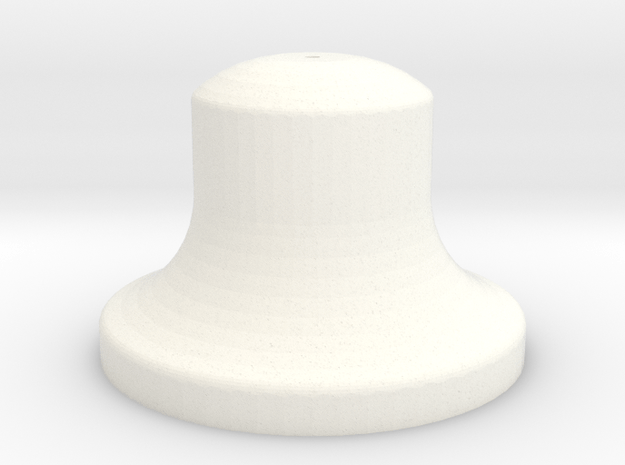"""3/4"""" Scale Bell in White Processed Versatile Plastic"""