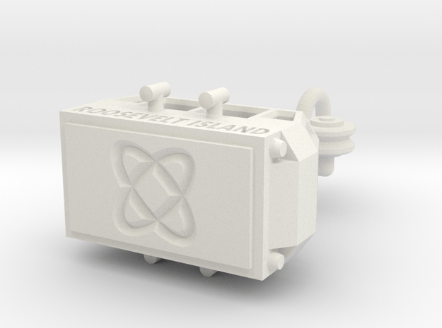 The Old Roosevelt Island Tram #2 (35%) in White Natural Versatile Plastic