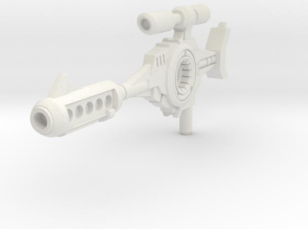 Classics G1 Blaster Rifle - 5mm Handle in White Natural Versatile Plastic