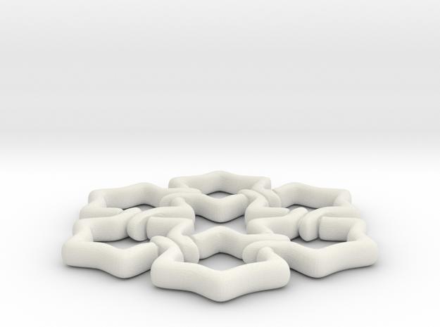 Stelle01 in White Natural Versatile Plastic