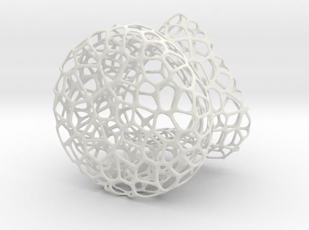 Heart Glass 4 in White Natural Versatile Plastic