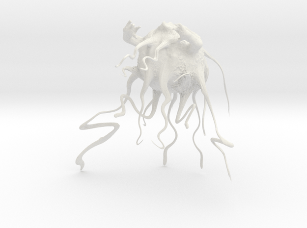 angry tentacle guy in White Natural Versatile Plastic