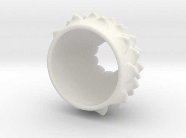 Thistle Tea Light Cover in White Natural Versatile Plastic