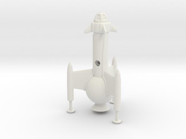 "R-Rocket ""Mercury""-Class Small in White Natural Versatile Plastic"