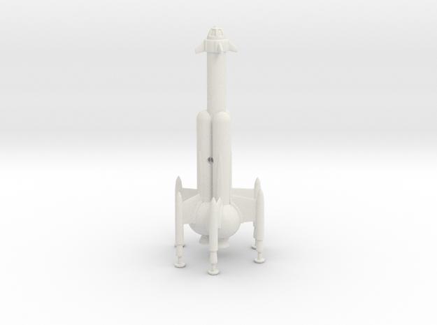 "R-Rocket ""Mercury""-Class Large in White Natural Versatile Plastic"
