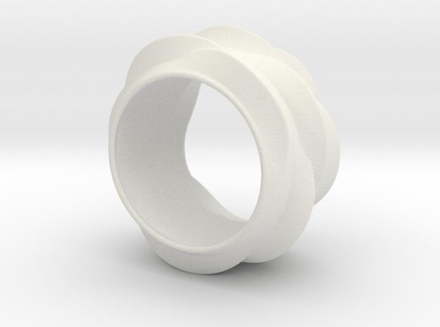 Tree-Ear Light Ring (thinner) in White Natural Versatile Plastic