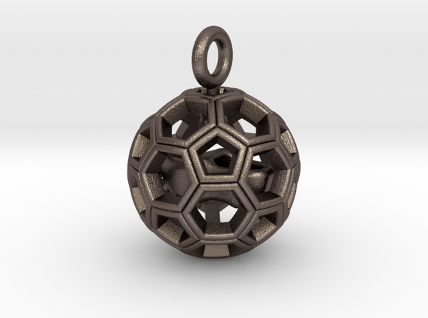 Soccer Ball with Dutch Soccer Shoe Inside in Polished Bronzed Silver Steel