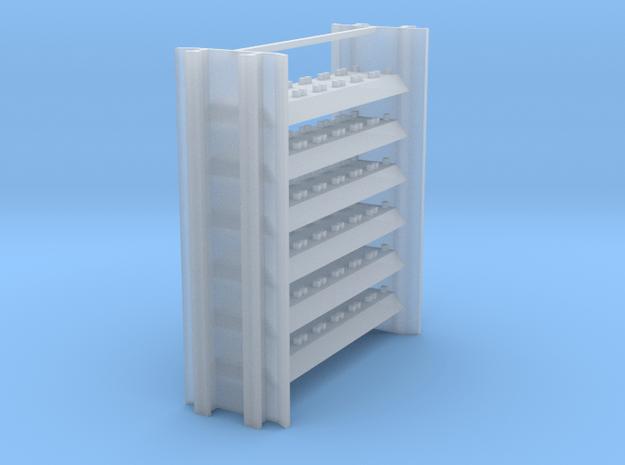 Intermediate Rail Rack for Rail Train in Smooth Fine Detail Plastic