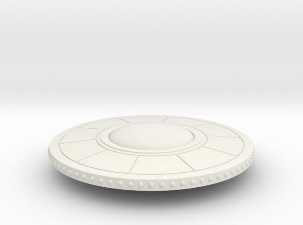 R-Rocket UFO005 large in White Natural Versatile Plastic