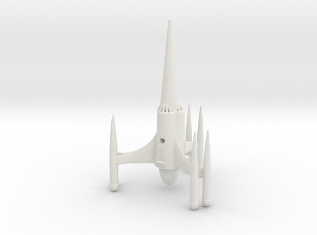"R-Rocket ""Saturn""-Class Large in White Natural Versatile Plastic"