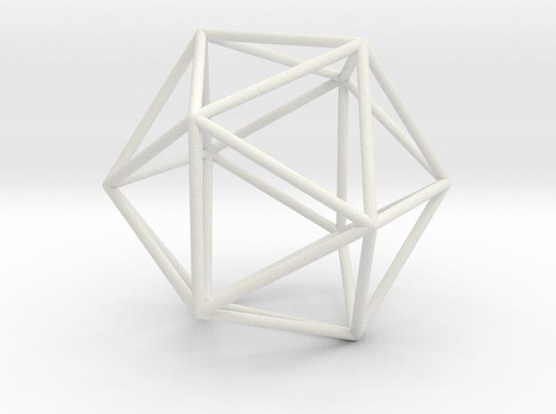 Icosahedron in White Natural Versatile Plastic