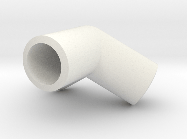 Dodecahedron knuckle for 6mm bars in White Natural Versatile Plastic