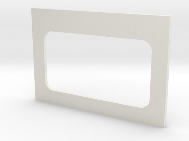 Bulkhead Door Base in White Natural Versatile Plastic