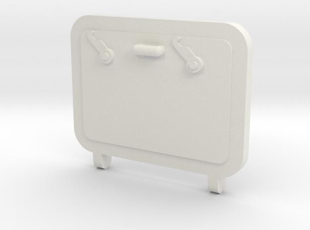 Hatch in White Natural Versatile Plastic