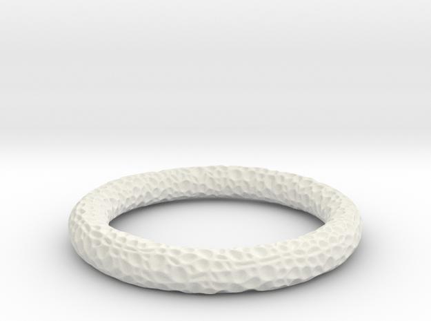 Coral Bangle in White Natural Versatile Plastic