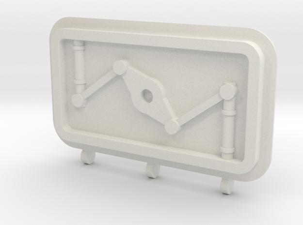 Bulkhead Door in White Natural Versatile Plastic