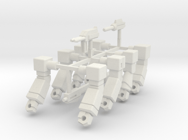 Aerial Arms 2 in White Natural Versatile Plastic