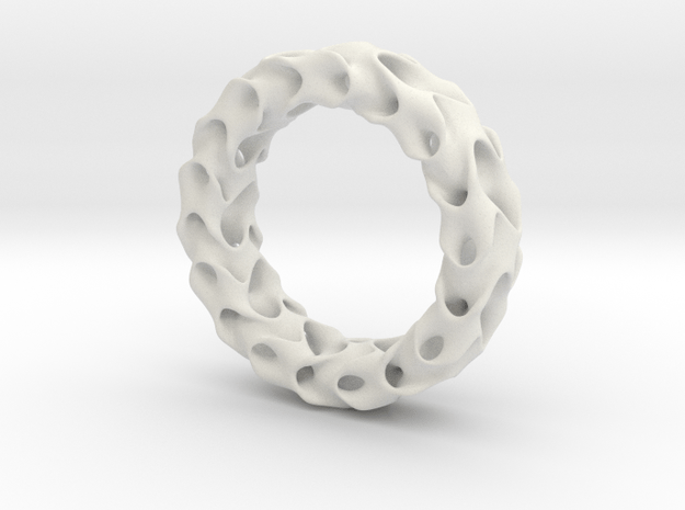 Gyroid No.2 in White Natural Versatile Plastic