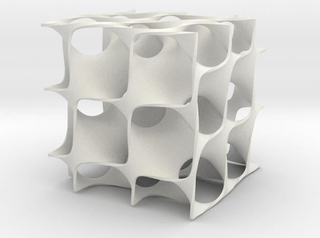 Diamand surface in White Natural Versatile Plastic