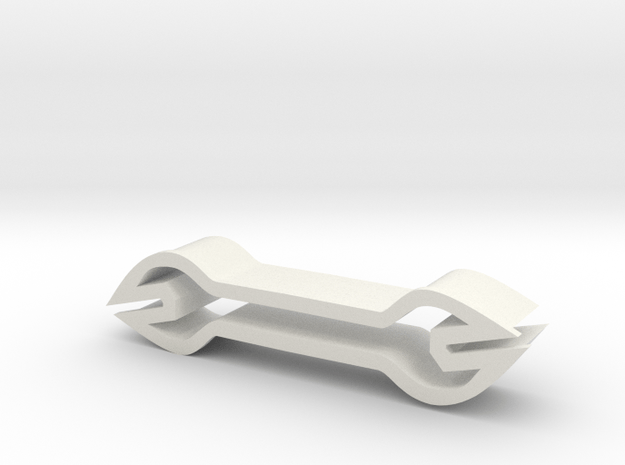Wrench shaped cookie cutter in White Natural Versatile Plastic