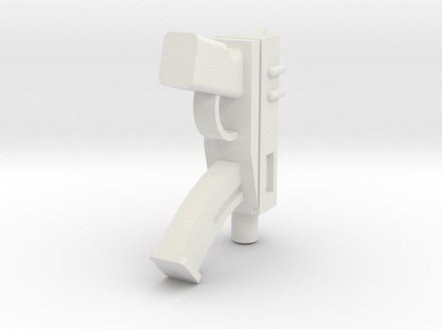 Machine Pistol in White Natural Versatile Plastic