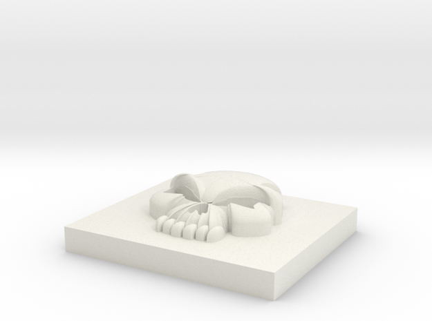 5.5 Skull in White Natural Versatile Plastic
