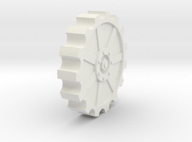 30mm cog wheel in White Natural Versatile Plastic