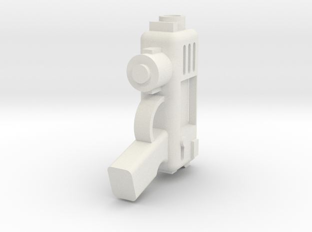 Plasma Pistol in White Natural Versatile Plastic