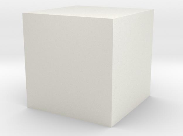 16mm hollow tube in White Natural Versatile Plastic