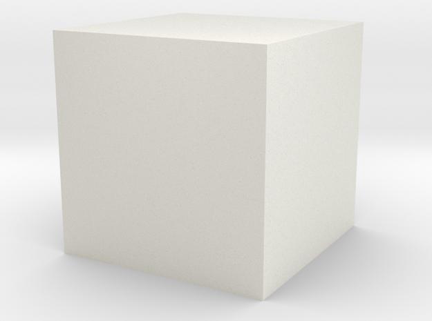 16mm cube in White Natural Versatile Plastic