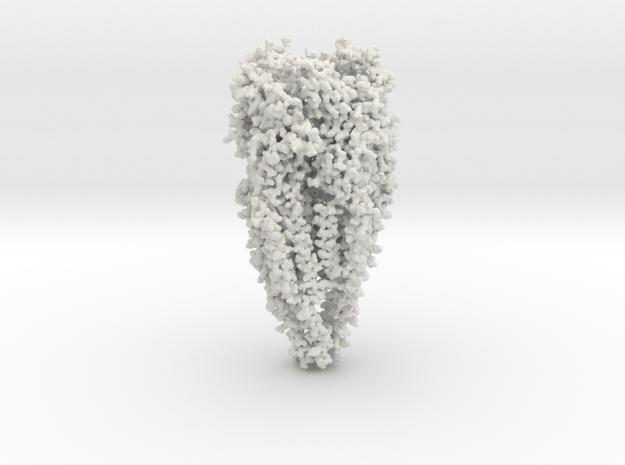 Acetylcholine Receptor - full Oligomer in White Natural Versatile Plastic