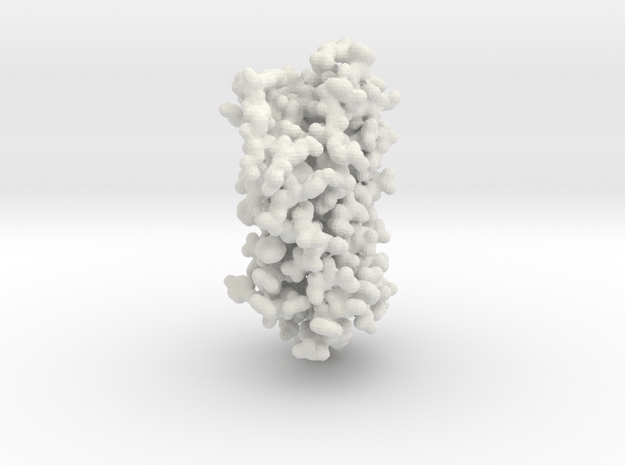 Rhodopsin Photocenter - All Atom in White Natural Versatile Plastic