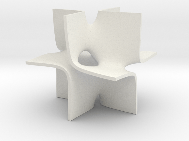 A holes2 isosurface in White Natural Versatile Plastic