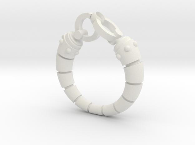 Robot arm Ring in White Natural Versatile Plastic
