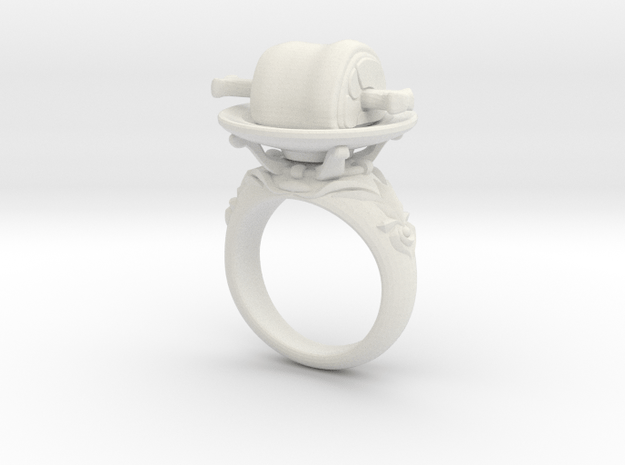 Meat Ring(Type-01) in White Natural Versatile Plastic