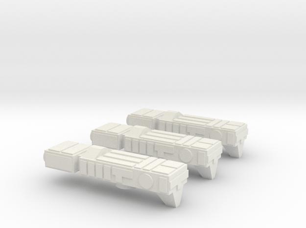 Fleet Scale Series 1: Terran System Defense Ships in White Natural Versatile Plastic