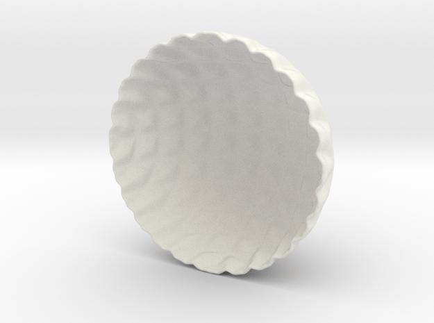 Lattice Tea-light Cover in White Natural Versatile Plastic